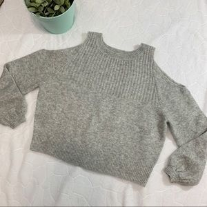 ASOS Gray Cold Shoulder Sweater Size 2